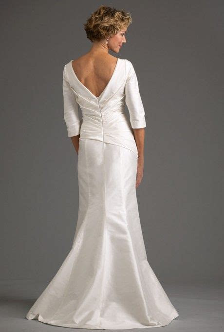 Wedding Dresses For Women Over 50 With Open Back And Long