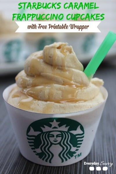 Starbucks Caramel Frap Cupcakes
