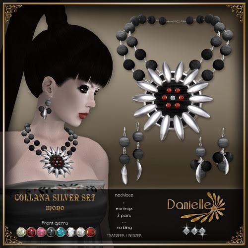 DANIELLE Collana Silver Set ~ Mono