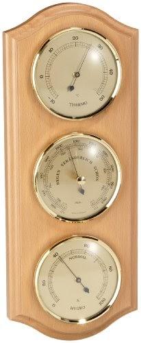 Termometri e dispositivi metereologici Stazioni meteo TFA 20.1028.05 Domatic Buche Stazione Meteo in Legno