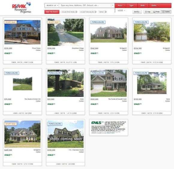 Foreclosures And Short Sales In Canton Georgia