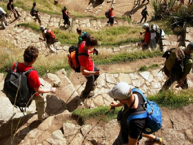 About 500 people walk the Inca Trail to Machu Picchu daily