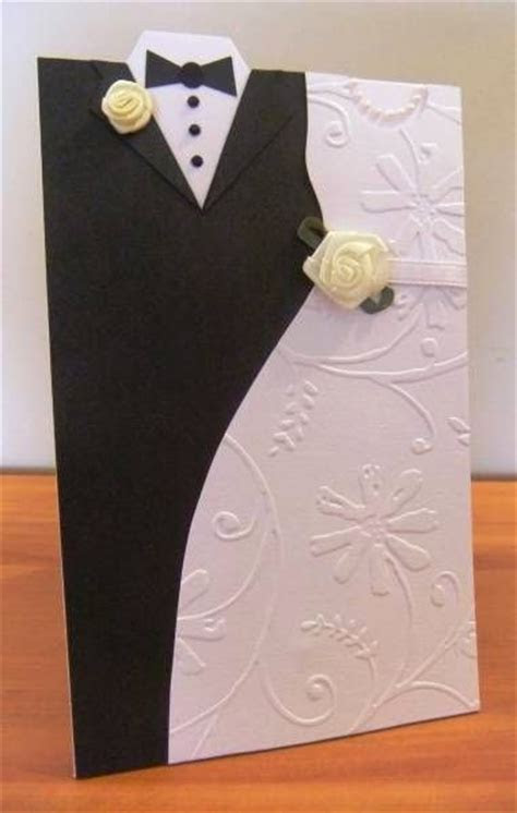 Creative Wedding day Bride and Groom dress up greeting cards