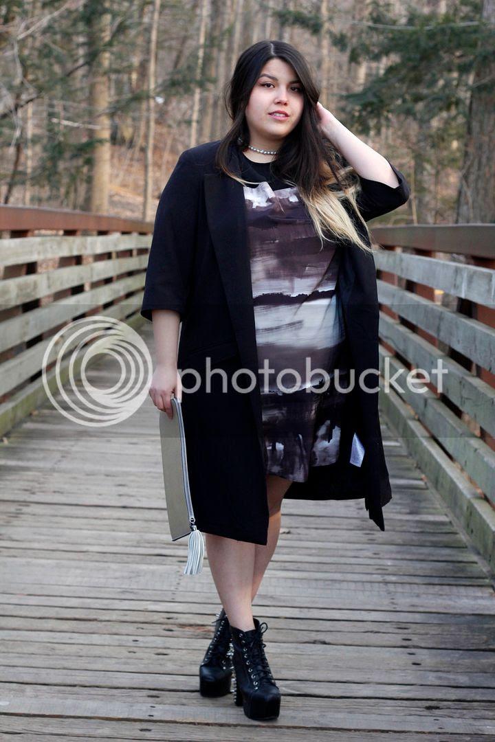 plus size Monochromatic ELVi jeffrey campbell plus size fashion junarose blazer
