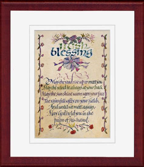 Irish Blessing calligraphy print by Dave Wood