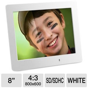 Aluratek Asdpf08led Digital Picture Frame 8 Led Display Ultra
