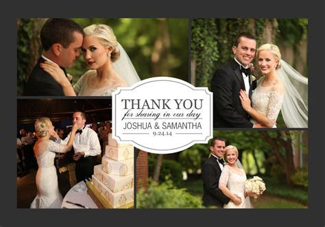 Classic Thank You Collage   Love & Marriage   Wedding