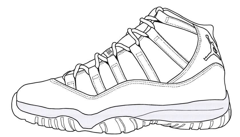 550 Sneaker Coloring Book Online Free Images