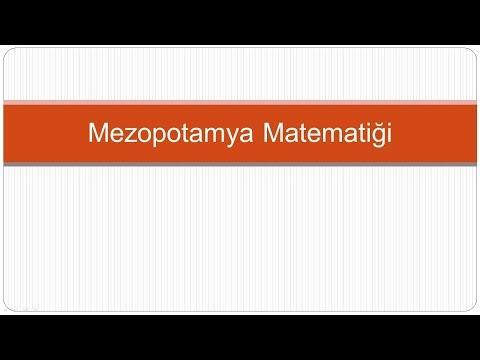 Mezopotamya Dönemi - Matematik Tarihi