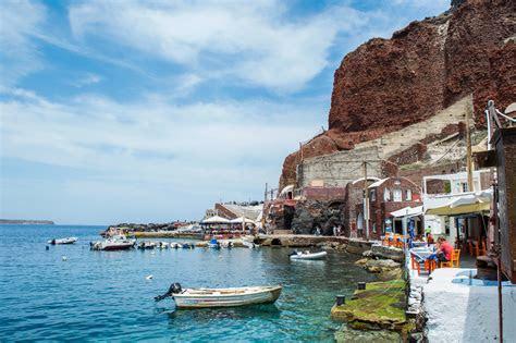 santorini greece  stock photo