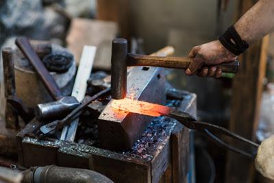Forging a samurai sword