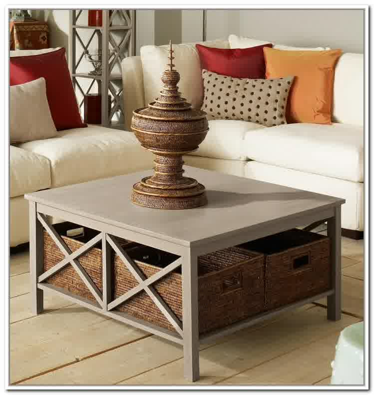 Inspiring Designs of Coffee Table with Baskets - HomesFeed