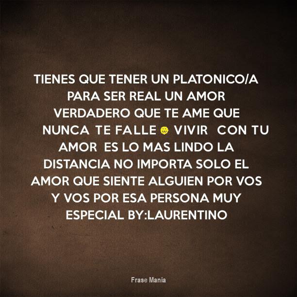 Cartel Para Tienes Que Tener Un Platonico A Para Ser Real Un Amor