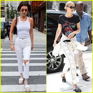 Bella & Gigi Hadid Show Off Their Style in New York City