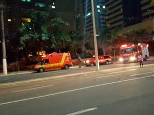 Desabamento em prédio aconteceu na madrugada desta terça-feira (19), em Vitória (Foto: Reprodução/ Whatsapp)