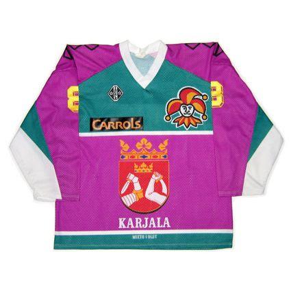 Finland Jokerit Helsinki 1991-92 jersey photo FinlandJokeritHelsinki1991-92F.jpg