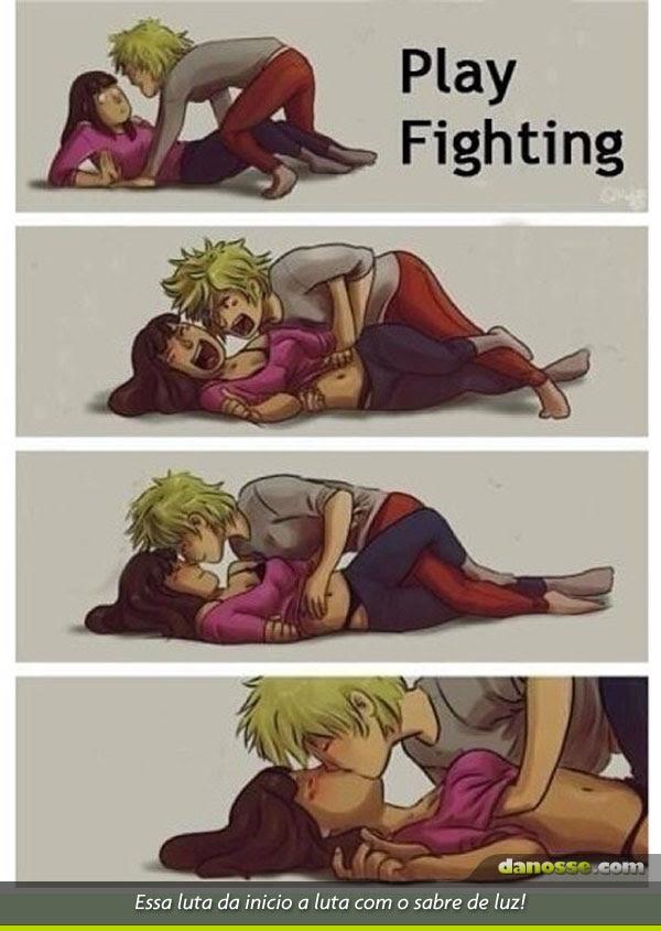 Brincando de luta! Bom demais!