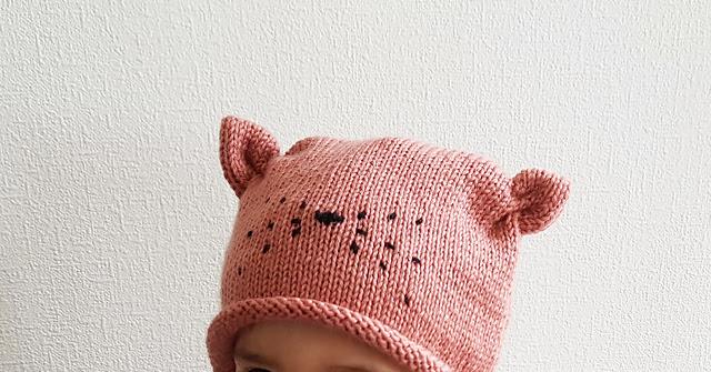 Patron de tricot Bonnet mon petit chat par Charlotte L