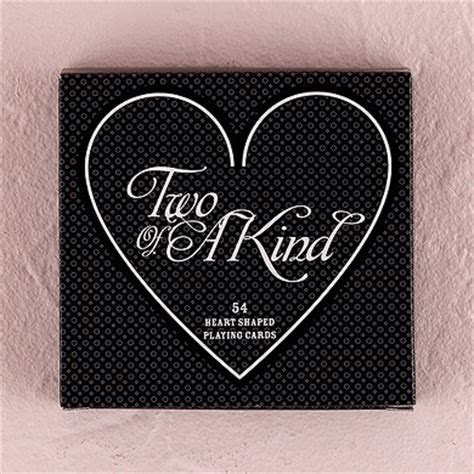 """""""Two of a Kind"""" Heart Shaped Playing Cards   Confetti.co.uk"""