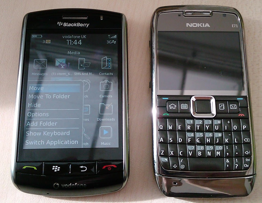 Blackberry Storm Vs Nokia N71 Textlad Flickr