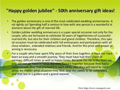 50th anniversary gift ideas!