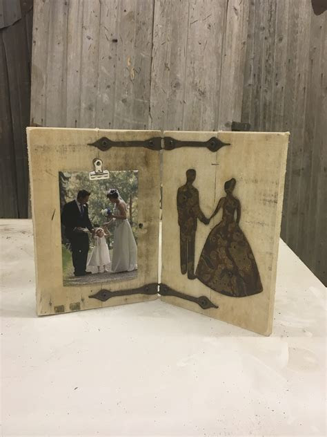 Rustic Wedding Picture Frame ? Rustic Metal Letters & Wall Art