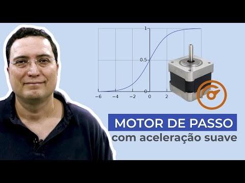 Motor de passo com aceleração suave