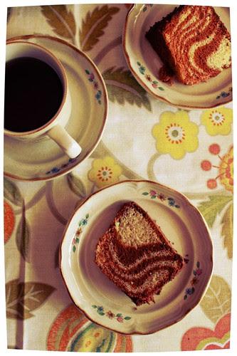 Banana 'zebra' Chiffon Cake by Fitri D. // Rumah Manis