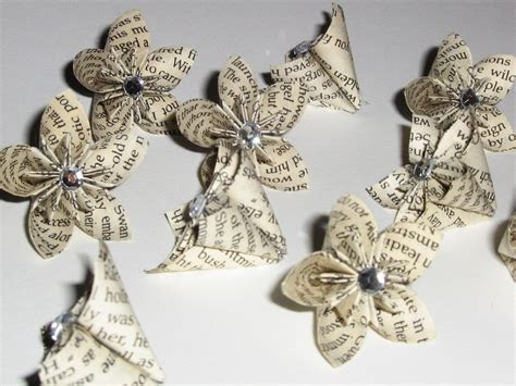 Recycled paper flowers for your wedding ceremony or
