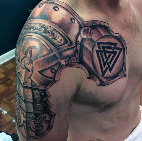 Top 90 Best Armor Tattoo Designs For Men Walking Fortress