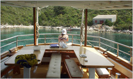 croatia cruises, category A, ship deck