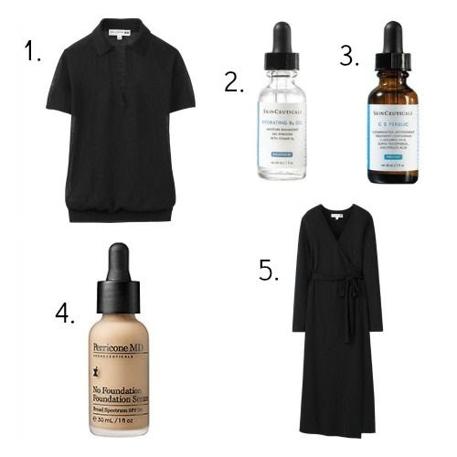 Uniqlo IDLF Sweater - SkinCeuticals Hydrating B5 Gel - SkinCeuticals C+E Ferulic Serum - Perricone MD No Foundation Foundation Serum - Uniqlo IDLF Jersey Wrap Dress