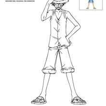 Coloriages Coloriage Luffy Gratuit Frhellokidscom