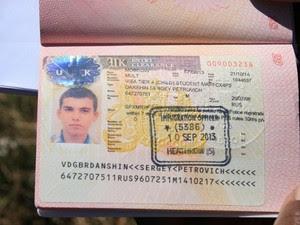 Passaporte do turista morto em Maricá, RJ (Foto: Romário Barros / Lei Seca Maricá)