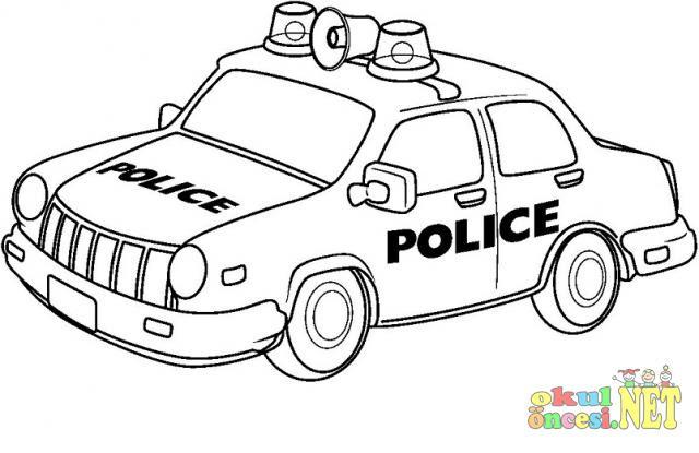 Hd Exclusive Polis Araba Boyama Resim Boyama