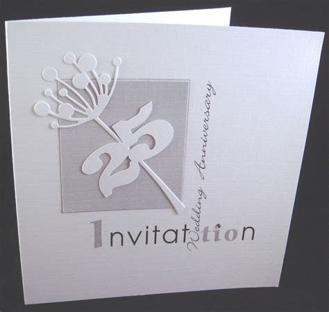 25th silver wedding anniversary invitation cards   wedding
