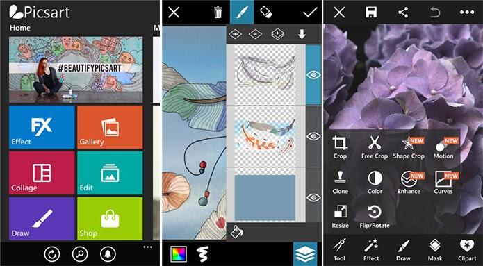 PicsArt é um editor de imagens completo e cheio de novidades (Foto: Divulgação/Windows Phone Store)