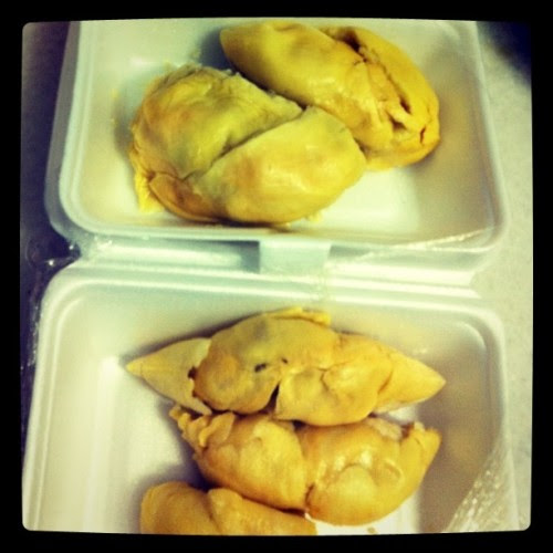 Durian feast!!!! :D (Taken with instagram)