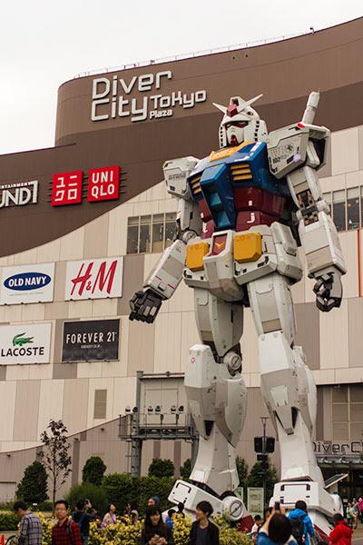 Giant Gundam Diver City Tokyo Plaza