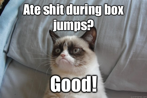 Image result for crossfit meme box jumps