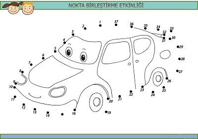 Sevimli Araba Nokta Birleştirme Etkinliği Meb Ders