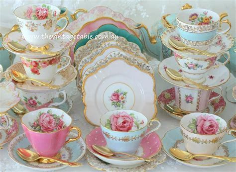 Vintage High Tea China   Crockery Hire  The Vintage Table