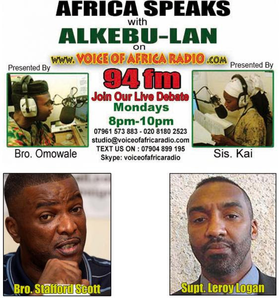 Afrika Speaks with Alkebu-Lan 8pm-11pm 12/12/11 - Is the British Police Force Corrupt and Racist? pt 2