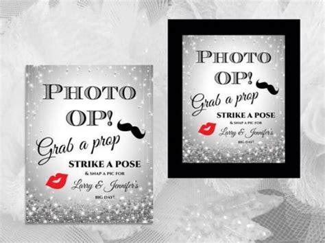 DIY Printable Wedding Photo Booth Prop Sign Template