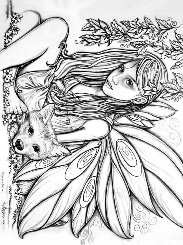 275 best images about Coloring Fairies \u0026 Mythical ...