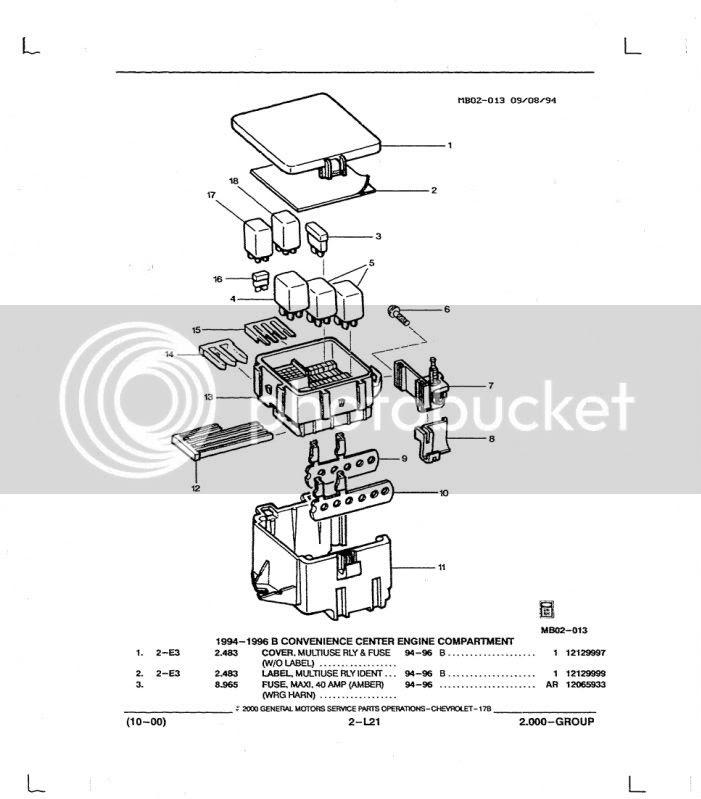 96 Impala Fuse Box