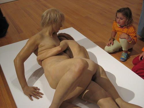 Curious sculpture in Berardo Museum, Lisbon