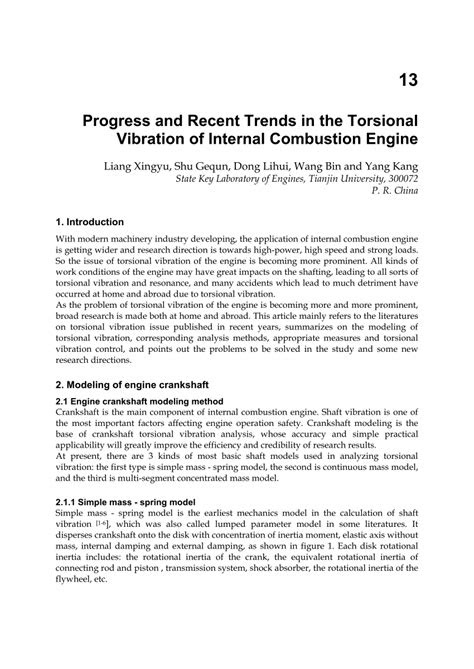 (PDF) Progress and Recent Trends in the Torsional