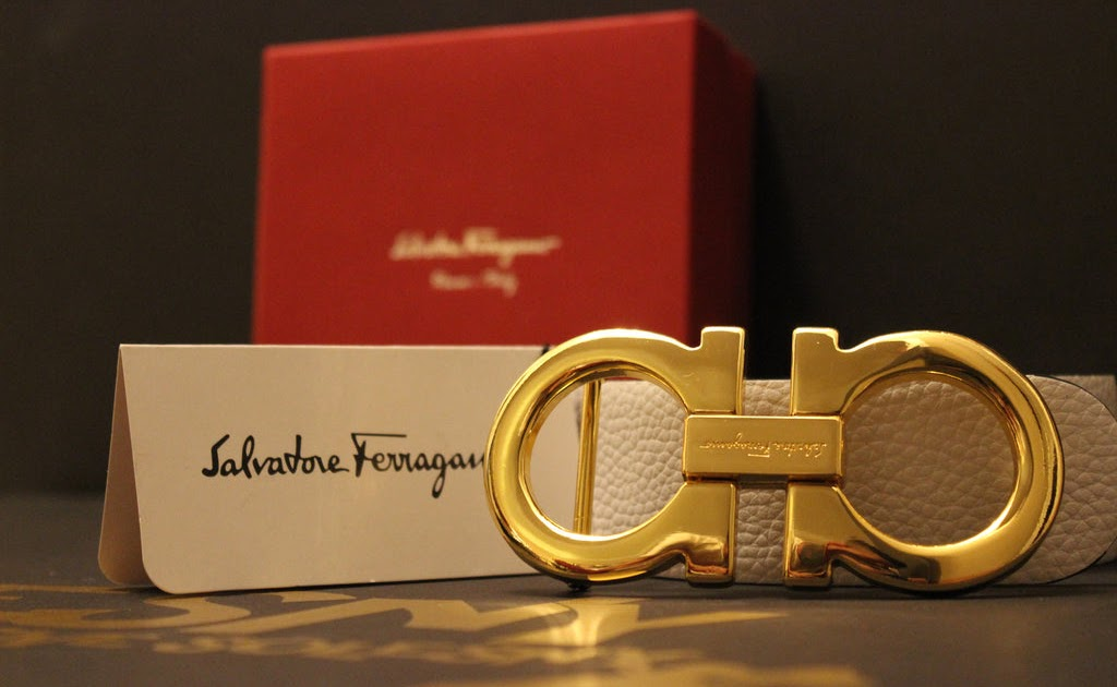 White And Gold: White And Gold Ferragamo Belt