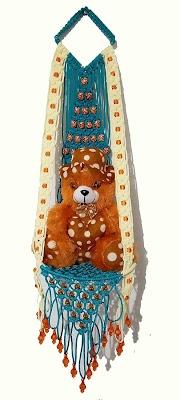 macrame teddy jhula new design